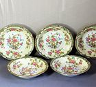 5 Japanese Noritake Porcelain large Bowls for Soup