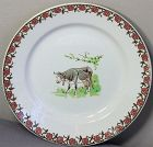 French Faience transfer ware Cow Plate