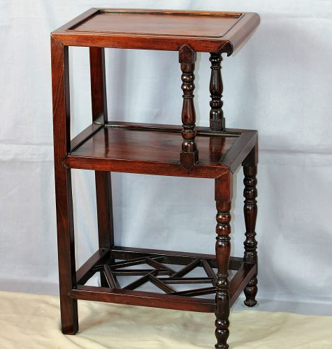 Chinese Rosewood 3 Tier Table, heavy hardwood