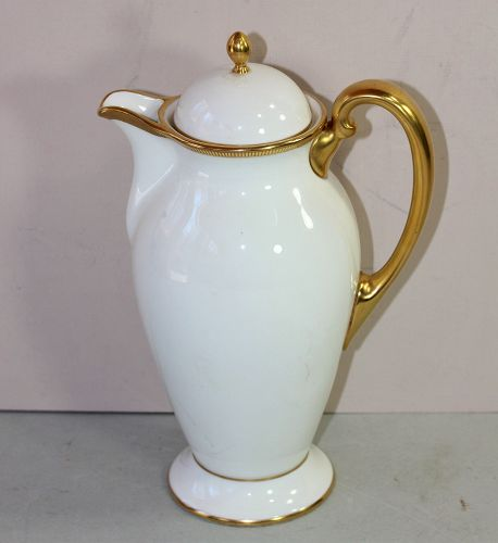 Lenox Porcelain Gold band Coffee Pot, retailed by Tiffany & Co.