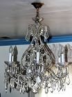 European Cut Crystal Chandelier