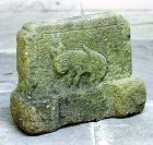 Chinese Limestone heavy Slab, carved Rabbit & Lady face