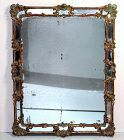 18th Century Italian Polychrome painted Gilded carved Mirror
