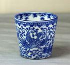 Japanese Blue & White Porcelain Soba Noodle Cup,  flying Phoenix Bird