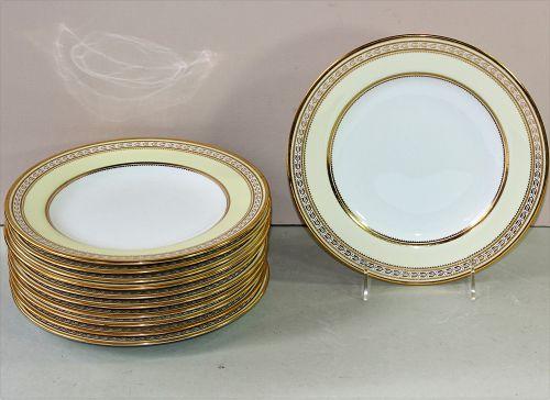 English 11 Spode Copeland Porcelain gold rim Dessert Plates