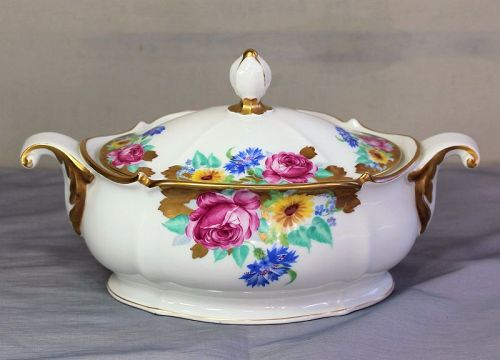 German Rosenthal Porcelain Serving Tureen, Casserole Dish with Cover