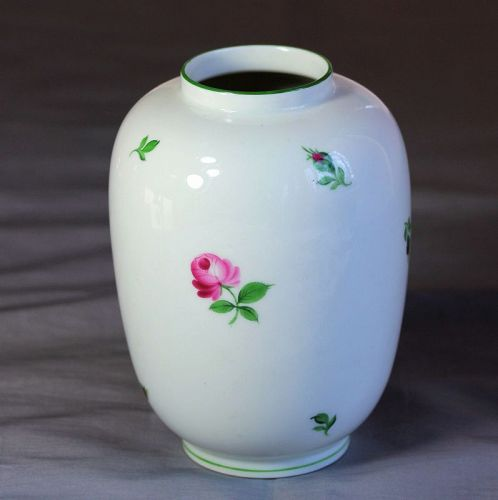 "Austrian ""Wien"" Porcelain Vase, Rose decorated"