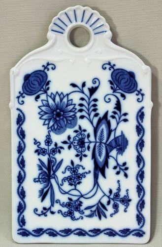 Czechoslovakian Porcelain Blue Onion pattern Cheese Board