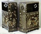 Pr. Korean Dragon inlaid Scholar's Book Chests