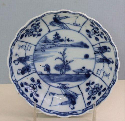 18TH C. Chinese Kangxi Porcelain Blue & White Dish