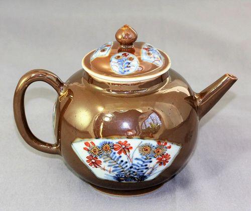 18th C. Chinese Export Cafe Au Lait Porcelain Tea Pot
