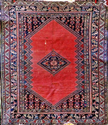 "Tabriz handmade Rug, carpet,  62"" x 55"", as is"