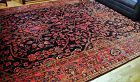 Persian Sarouk Carpet, hand knotted fine small knots, Ca. 1910