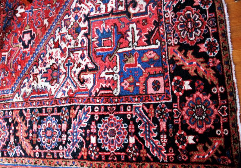 Persian Heriz Carpet, hand knotted wool Oriental Rug