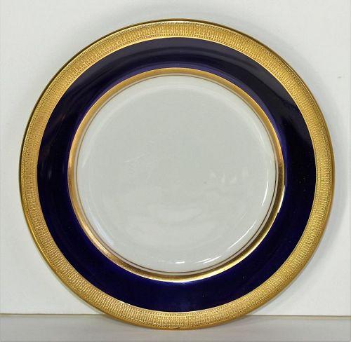 Lenox Porcelain Bread & Butter Plate, cobalt blue rim, green mark