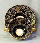 6 English Royal Doulton Porcelain Bouillon Soup & Saucer, Tiffany mark