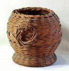 Japanese Ikebana flower woven Bamboo Basket