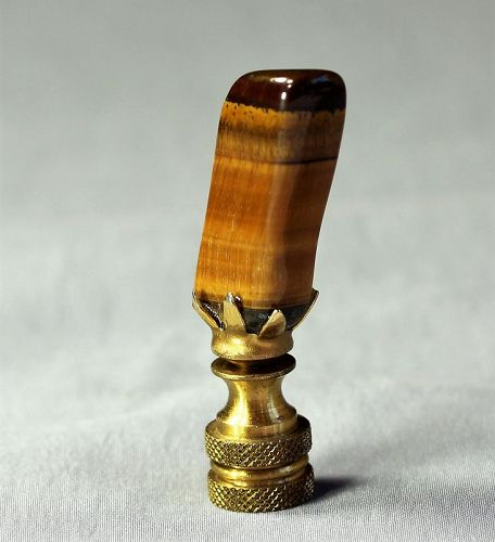 Tiger's Eye natural Stone Lamp Finial