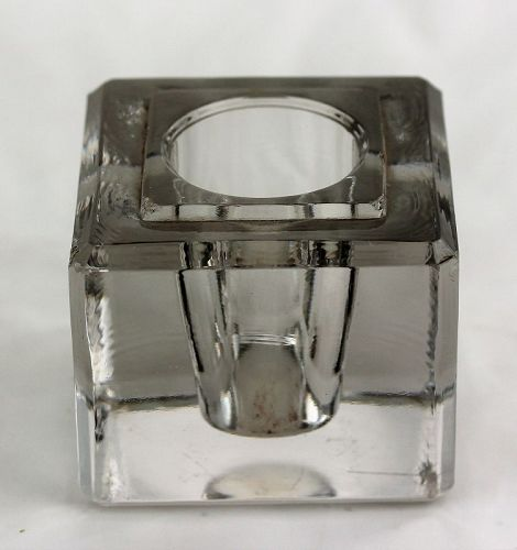 Heavy Crystal square Inkwell
