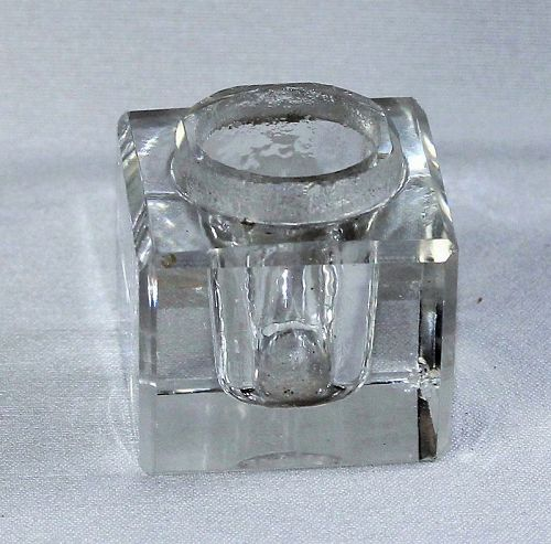 Crystal square Inkwell