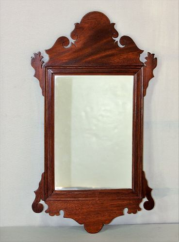 English Chippendale Mahogany Mirror, Looking Glass