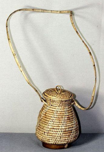Japanese Reed & Bamboo Ikebana Flower hanging Basket