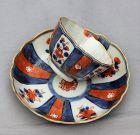 Chinese Export Imari pattern Porcelain Tea Bowl & Saucer, 18th C.