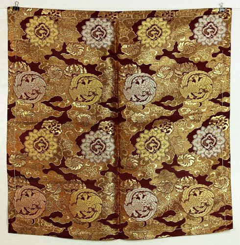 Japanese Gold Brocade Silk Uchishiki, Shrine Altar Cover