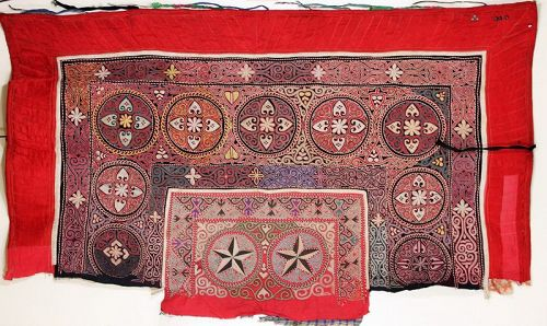 Mongolian Embroidered Wall Hanging