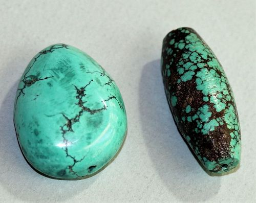 Two(2) Turquoise large Beads