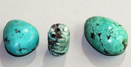 Three(3) Turquoise Natural large Beads