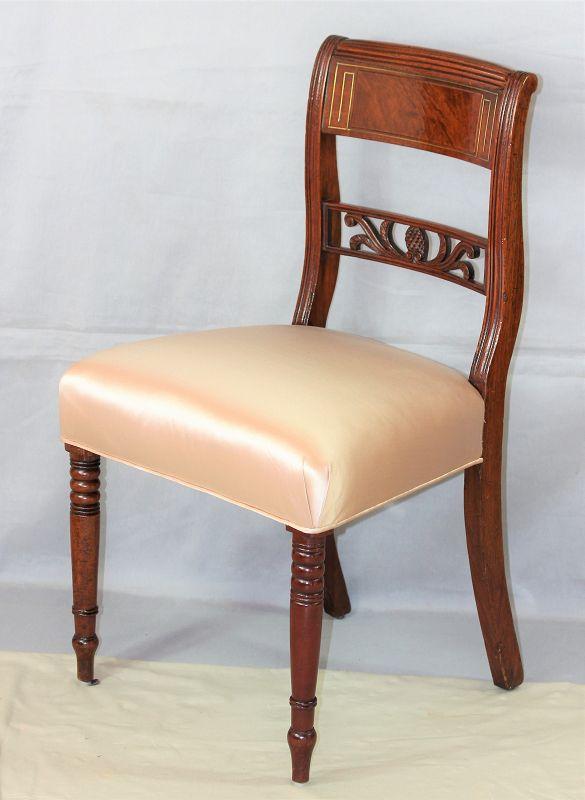 Sheraton Mahogany & Brass inlaid Side Chair