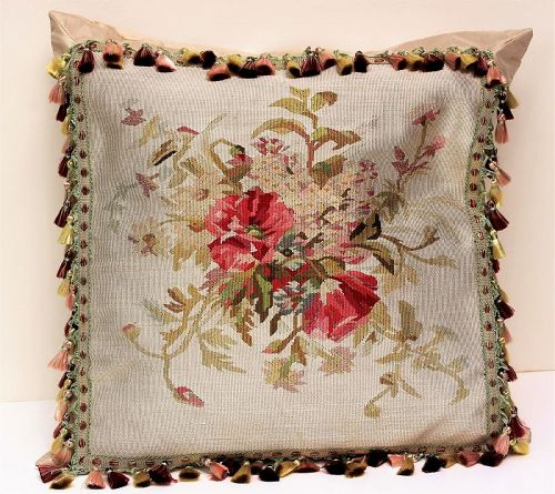 Aubusson Cushion with Silk tassel and backing