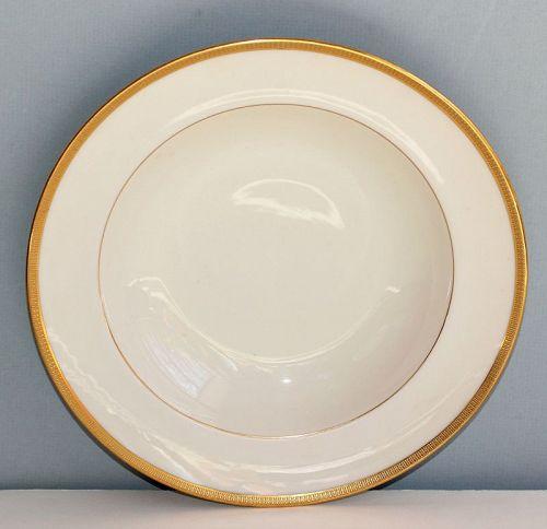 Lenox Porcelain Gold Rim Soup Plate, 7/J.33