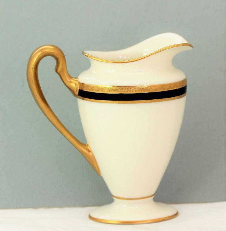 Lenox Porcelain Cobalt Blue & Gold rim Creamer, green mark, 744/V.7.B