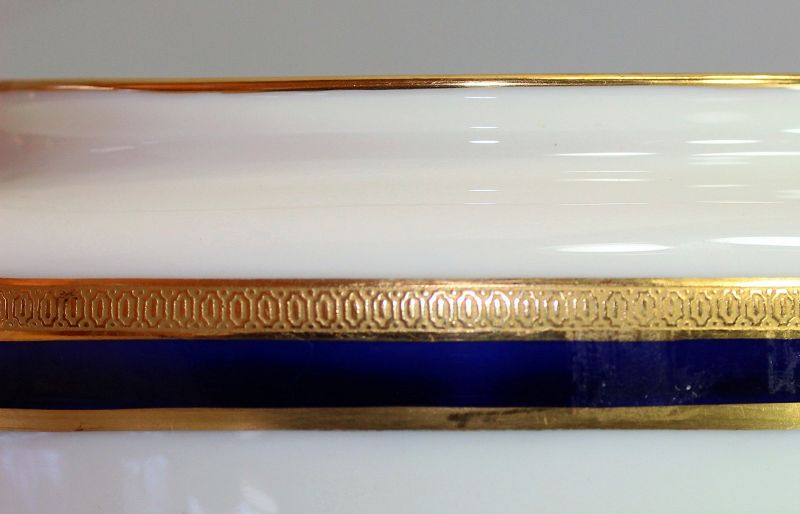 Lenox Porcelain Cobalt Blue & Gold Rim Sugar,743/V.7.B, green mark