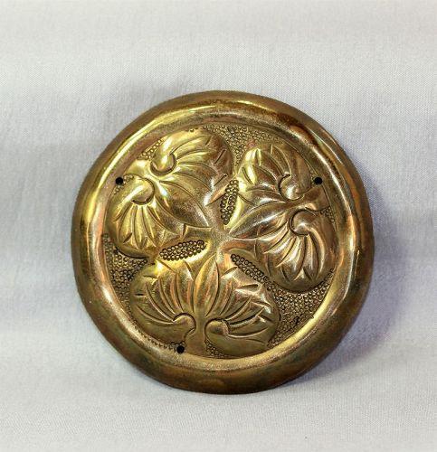 """Japanese """"Tokugawa"""" Shogun Mon Brass Hardware"""