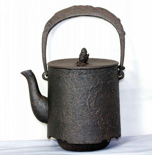 "Japanese Cast Iron tall Tea Kettle, Tetsubin, ""as is"""