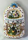 Portuguese Hand Painted Ceramic Bird Soap Dish & Hanger