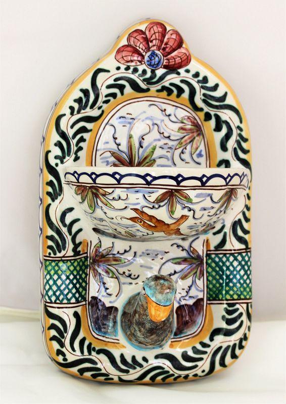 Portuguese Ceramic Bird shape Soap Dish & Towel Hanger