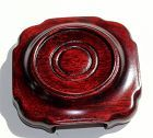 Chinese Rosewood Small Square Bottom Round top stand, Hong Kong made