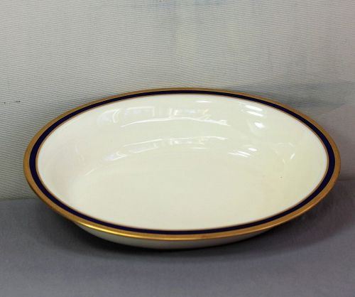 Lenox Porcelain Cobalt Blue & Gold oval open Serving Bowl, 1105/V.7.B