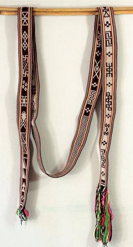 Two(2) Tibetan Lady's Belt or Sash, hand woven