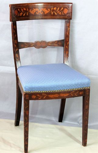Dutch Marquetry inlaid Side Chair, 19th Century