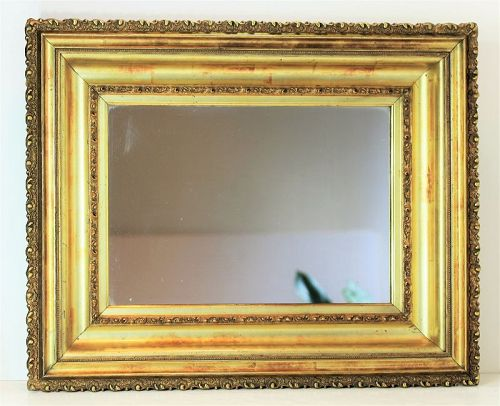 Gilded wide & deep step carved Wooden Framed Mirror