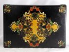 English Victorian Lacquered Papier Mache Game Box