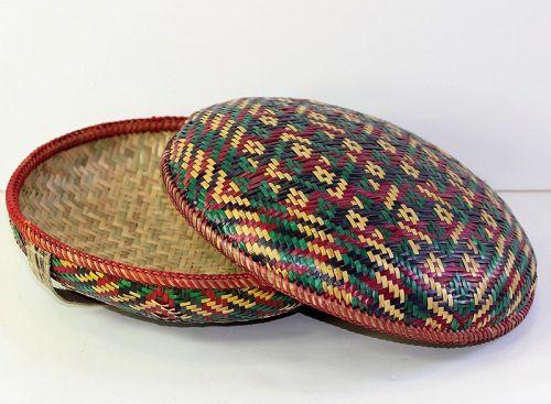 Bhutanese Bangchung Food covered Basket