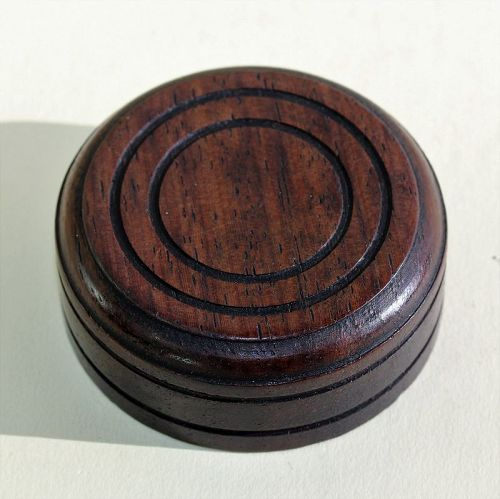Chinese carved Wood round cover for Tea Caddy, Tea Jar Top