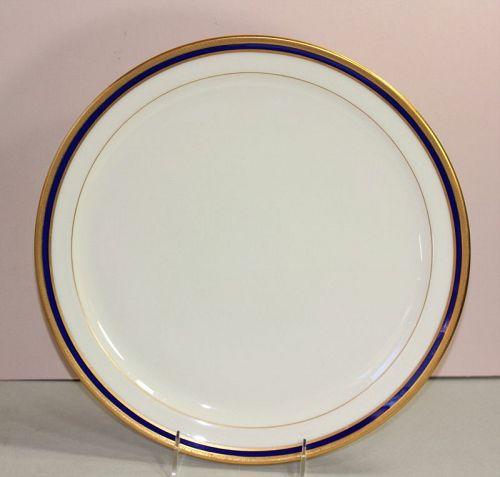 American Lenox Porcelain Cobalt Blue rim Serving round Charger