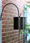 Black Lacquered Metal Bell with Black Iron hanging Hook